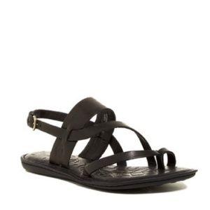 NEW Born Favignana Leather Sandal BLK